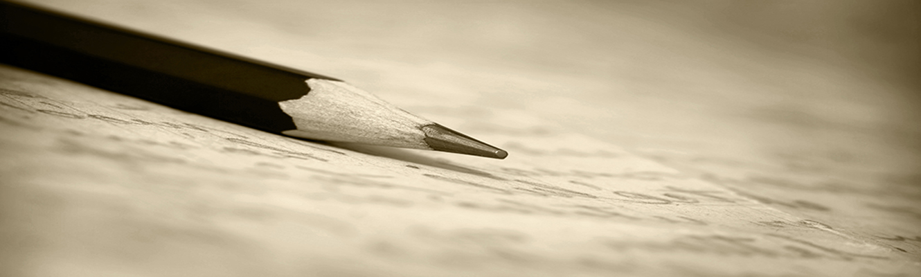 Photo of pencil and paper